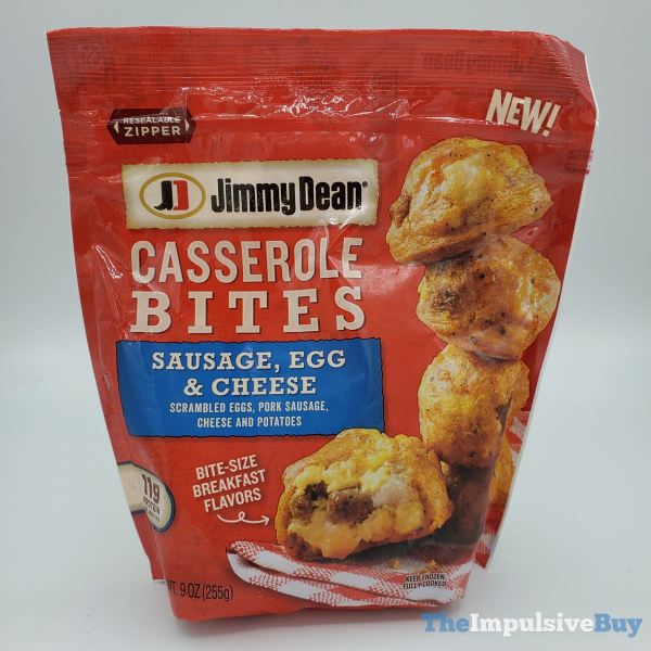 Jimmy Dean Casserole Bites Sausage Egg  Cheese Pouch