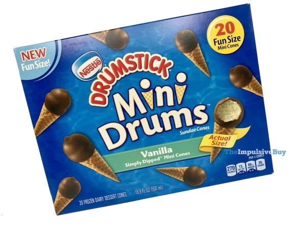 Nestle Drumstick Mini Drums Vanilla Simply Dipped Mini Cones