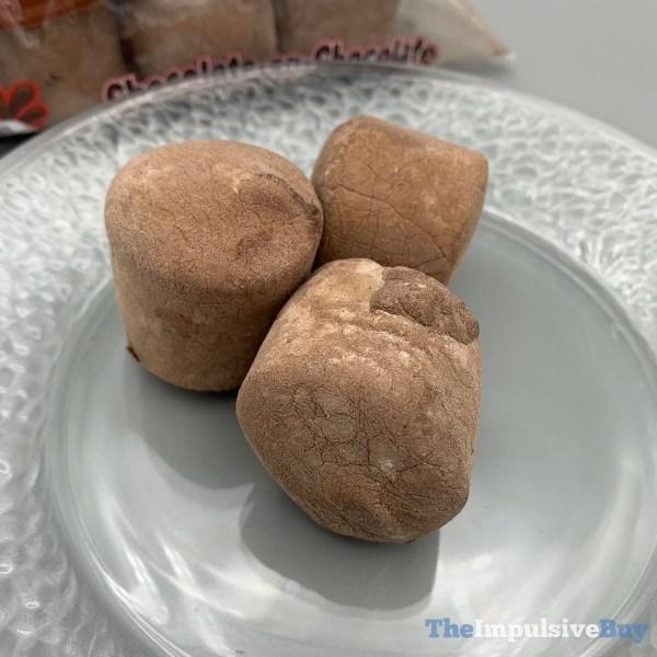 Stuffed Puffs Chocolate on Chocolate Marshmallows Closeup