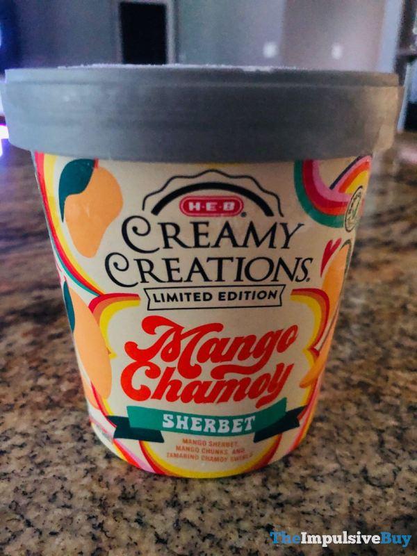 H E B Creamy Creations Limited Edition Mango Chamoy Sherbet
