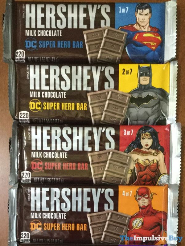 Hershey s Milk Chocolate DC Super Hero Bars 1 4