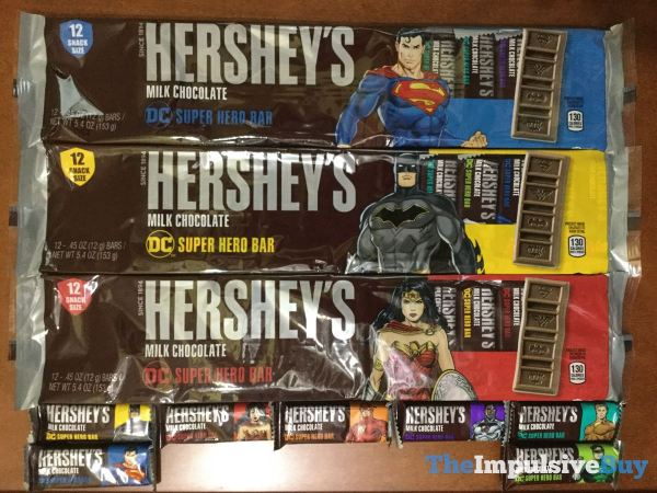 Hershey s Milk Chocolate DC Super Hero Bars Snack Size