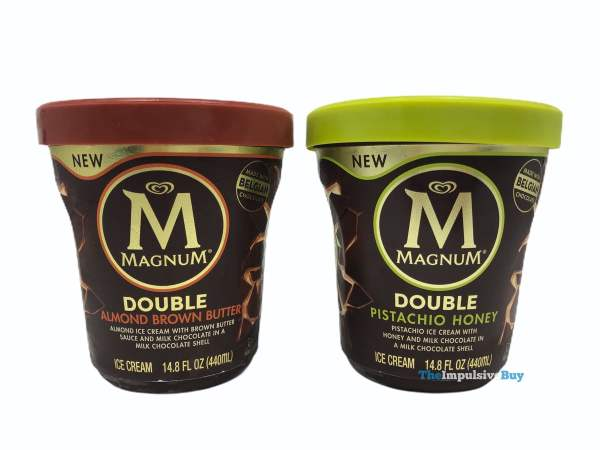 Magnum Double Almond Brown Butter and Double Pistachio Honey Tubs