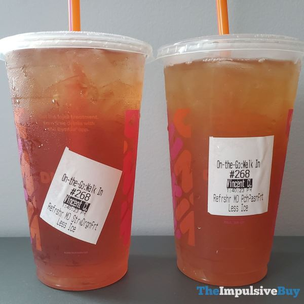 Dunkin Refreshers Flavors Closeup