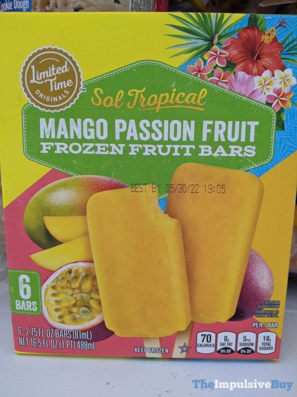 Giant Limited Time Originals Sol Tropical Mango Passion Fruit Frozen Fruit Bars