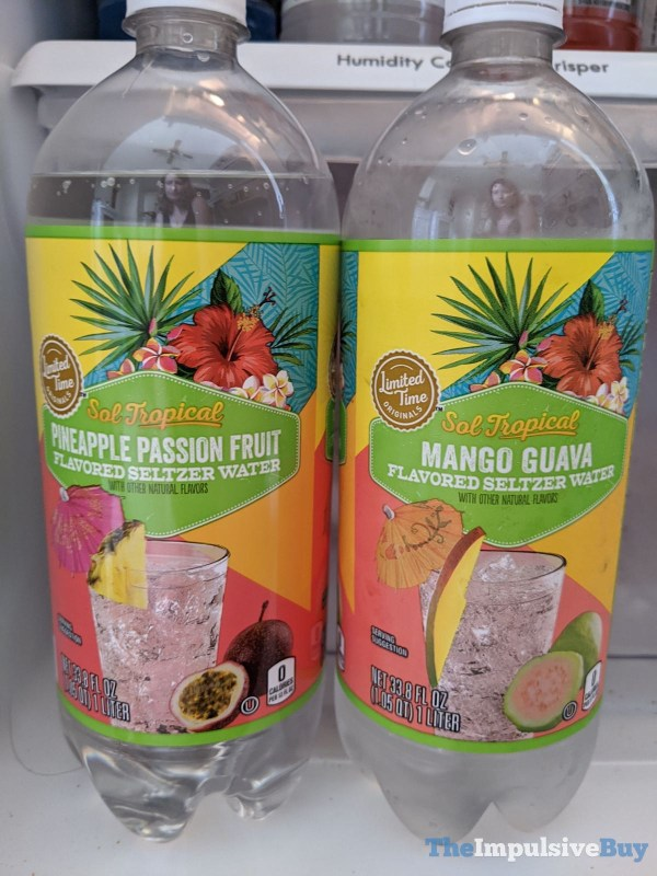 Giant Limited Time Originals Sol Tropical Pineapple Passion Fruit and Mango Guava Seltzer Water