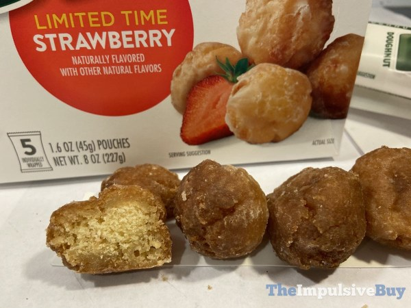 Krispy Kreme Limited Time Strawberry Bites