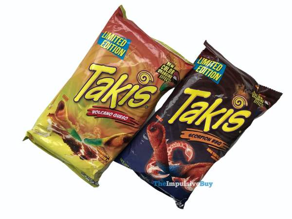 Limited Edition Volcano Queso and Scorpion BBQ Takis