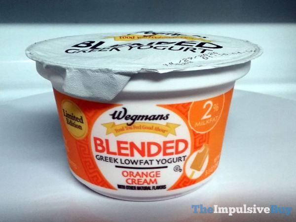 Wegmans Limited Edition Orange Cream Blended Greek Lowfat Yogurt
