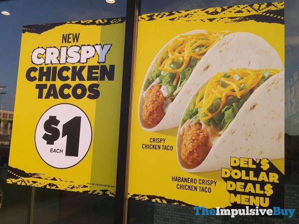 Del Taco Crispy Chicken Tacos Sign