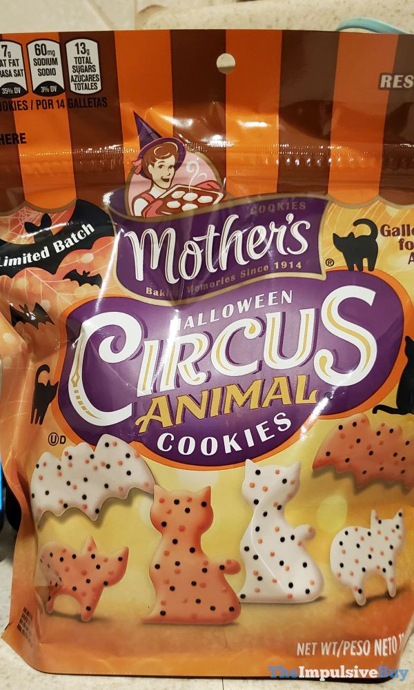 Mother s Limited Batch Halloween Circus Animal Cookies