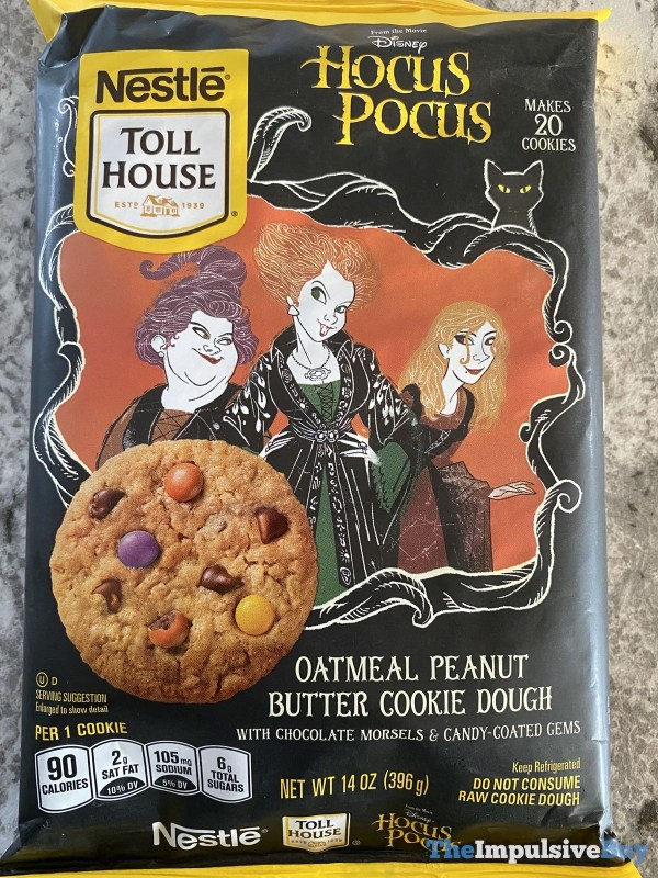 Nestle Toll House Disney Hocus Pocus Oatmeal Peanut Butter Cookie Dough
