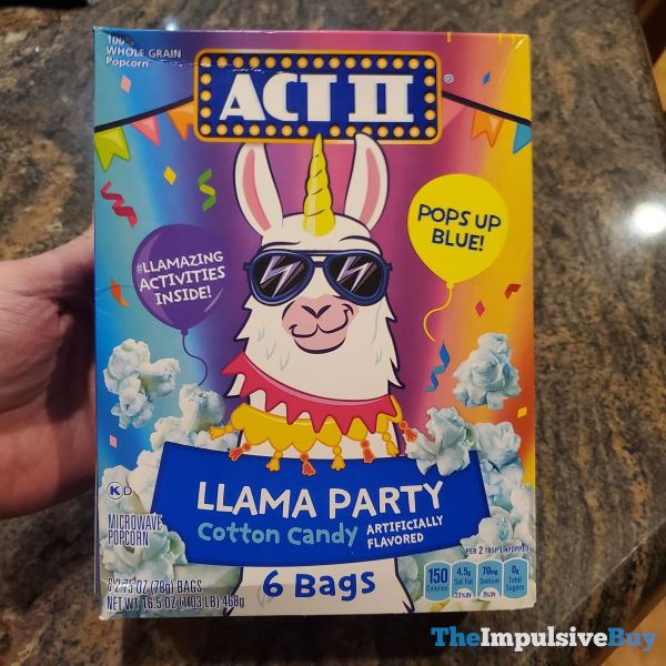 Act II Llama Party Cotton Candy Popcorn