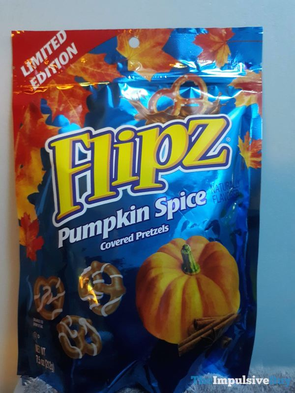 Flipz Pumpkin Spice Covered Pretzels