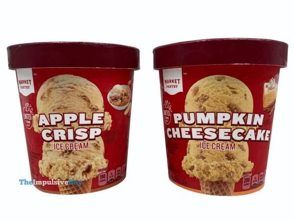 Market Pantry Pumpkin Cheesecake Ice Cream and Apple Crisp Ice Cream Pints