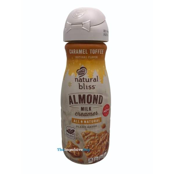 Nestle Coffee mate Natural Bliss Caramel Toffee Almond Milk Creamer Bottle