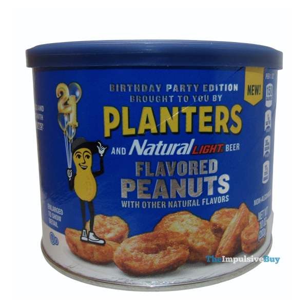 Birthday Party Edition Planters and Natural Light Beer Flavored Peanuts Can