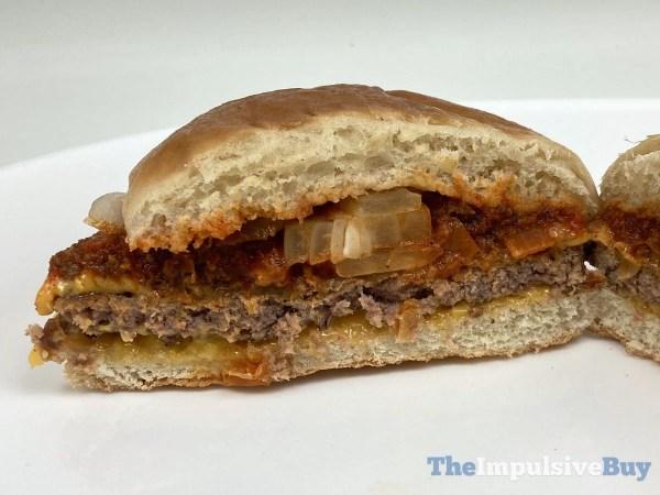 Jack in the Box Chili Cheeseburger Split