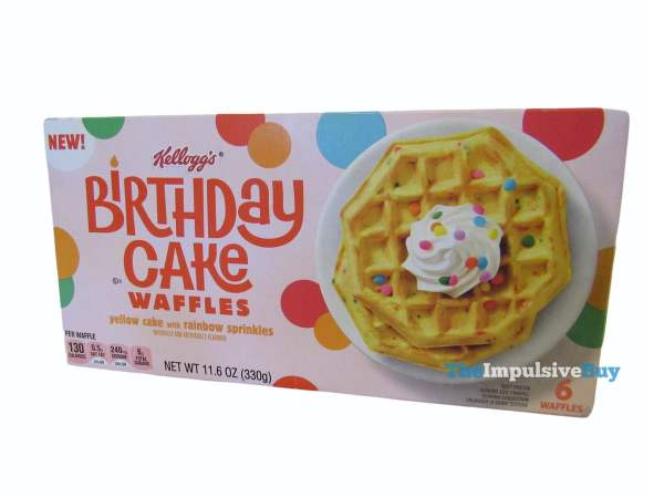 Kellogg s Birthday Cake Waffles Box