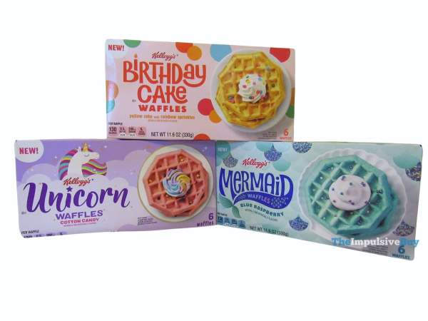 Kellogg s Mermaid Unicorn and Birthday Cake Waffles Boxes