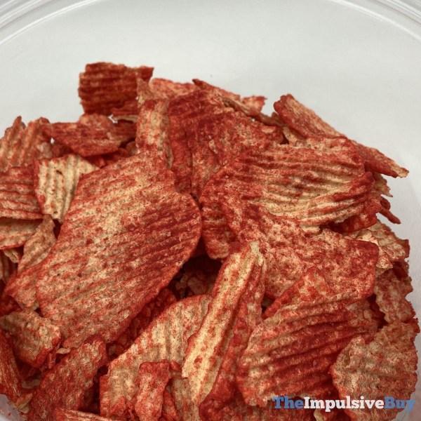 Ruffles Baked Flamin Hot Potato Crisps Closeup