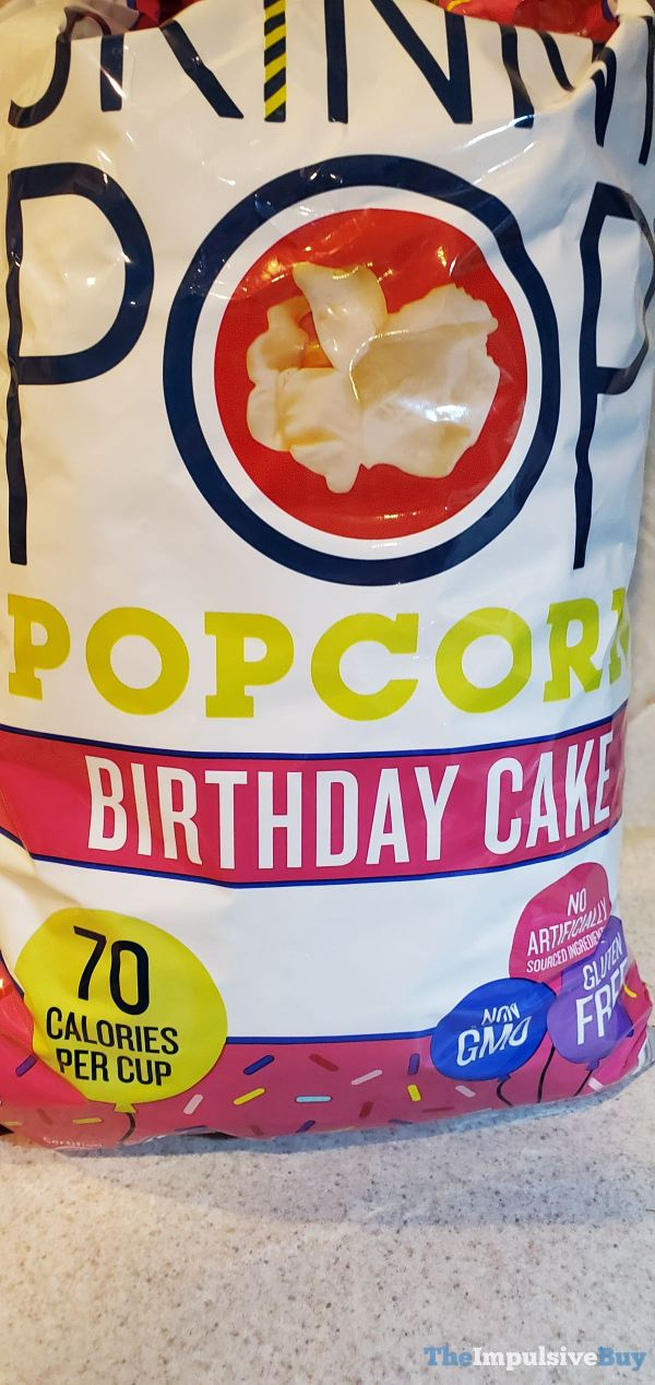 Skinny Pop Birthday Cake Popcorn
