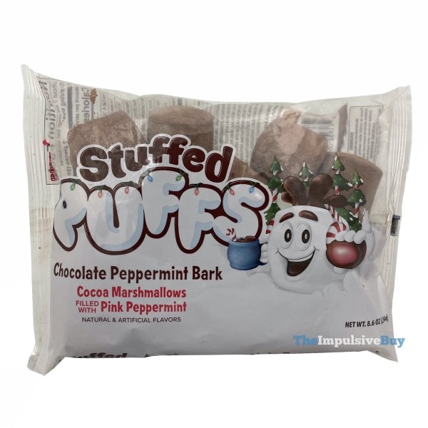 Stuffed Puffs Chocolate Peppermint Bark Marshmallows Bag