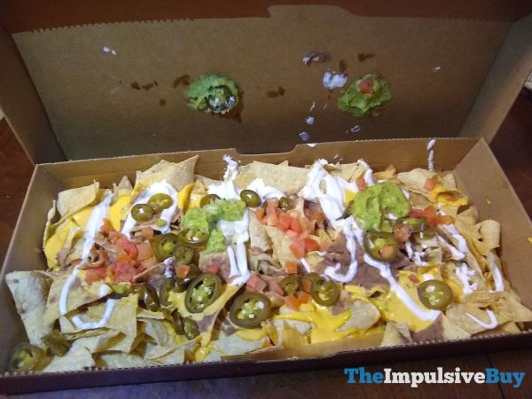 Taco Bell Veggie Nachos Party Pack 18 inches