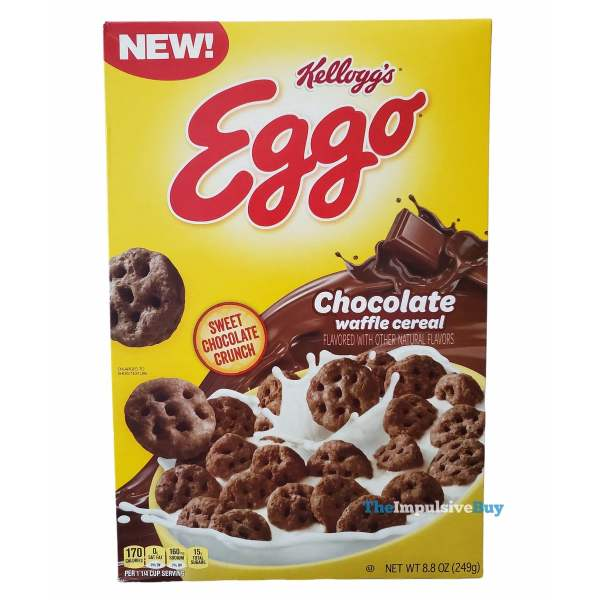 Kellogg s Eggo Chocolate Waffle Cereal Box