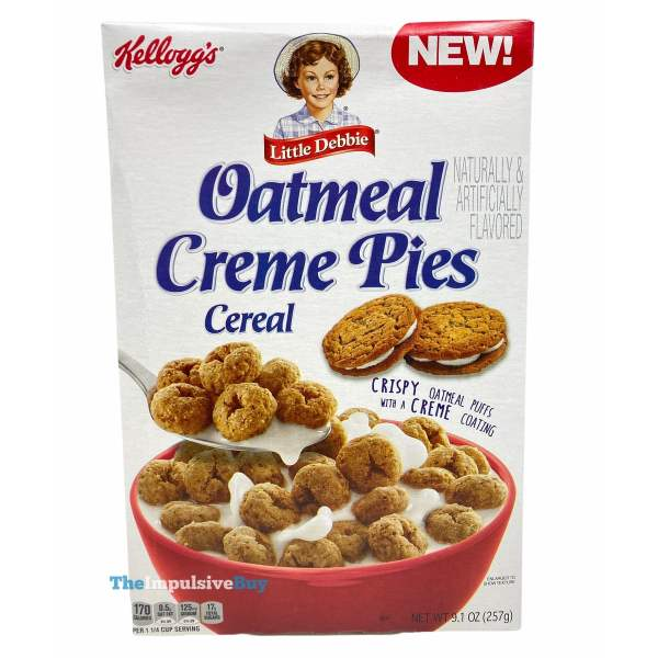 Kellogg s Little Debbie Oatmeal Creme Pies Cereal Box