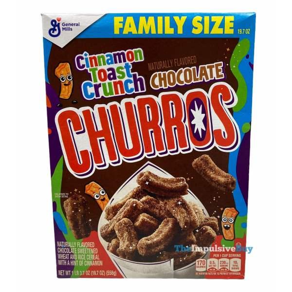 Cinnamon Toast Crunch Chocolate Churros Cereal Box
