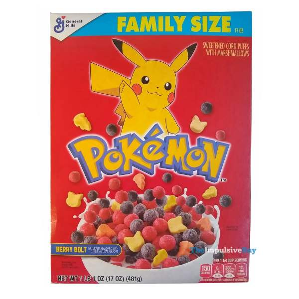 General Mills Pokemon Berry Bolt Cereal Box