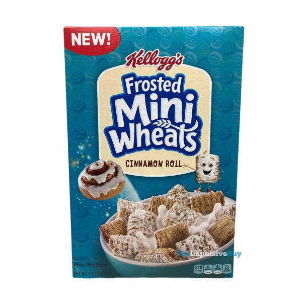 Kellogg s Frosted Mini Wheats Cinnamon Roll Cereal Box
