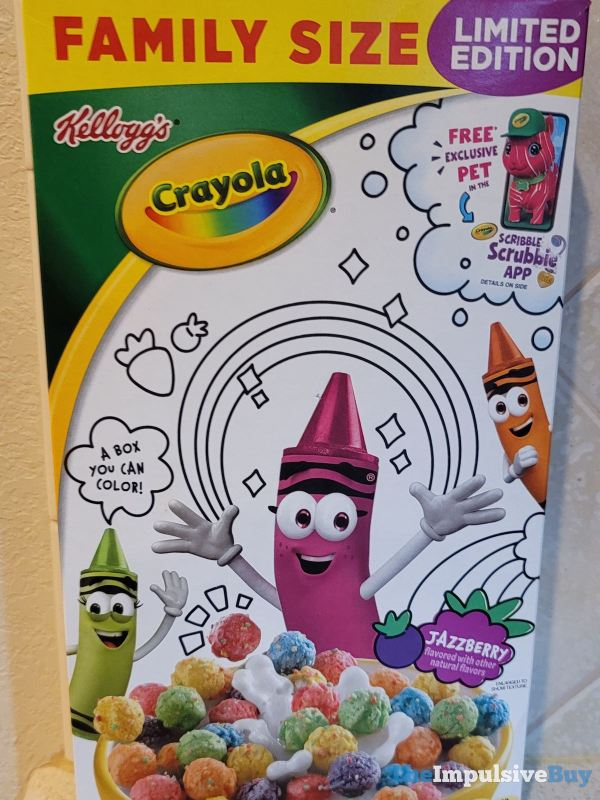 Kellogg s Limited Edition Crayola Jazzberry Cereal