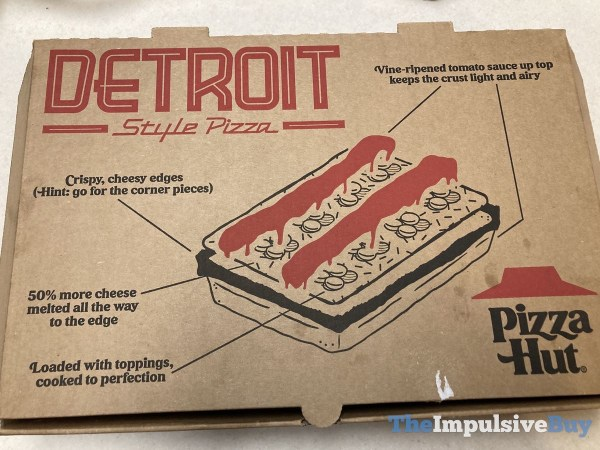 Pizza Hut Detroit Style Double Pepperoni Pizza Box