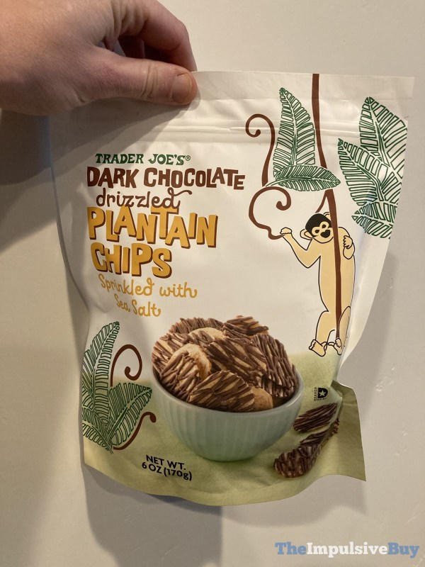 Trader Joe s Dark Chocolate Drizzled Plantain Chips