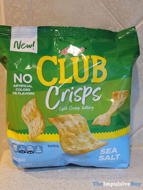 Kellogg s Club Crisps Sea Salt