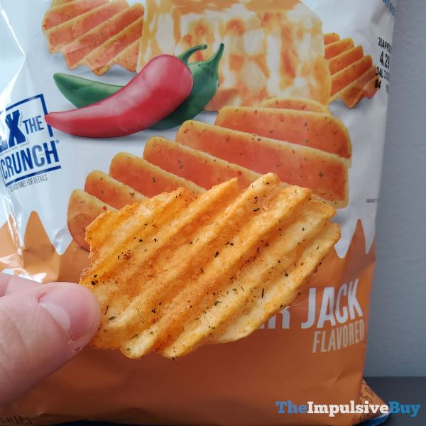 Ruffles Double Crunch Spicy Cheddar Jack Potato Chips Closeup