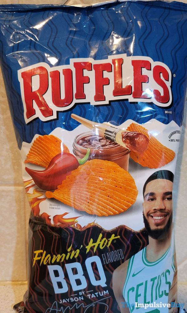 Ruffles Flamin Hot BBQ by Jayson Tatum Potato Chips