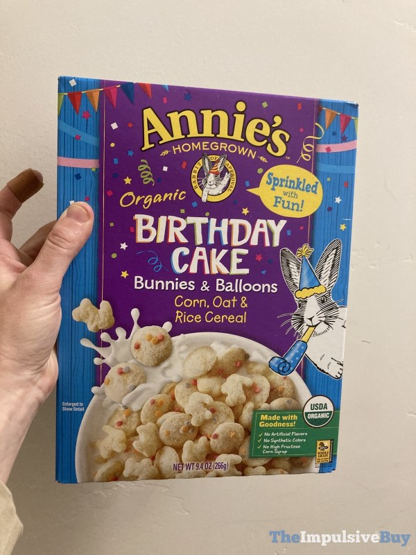 Annie s Organic Birthday Cake Bunnies  Balloons Cereal