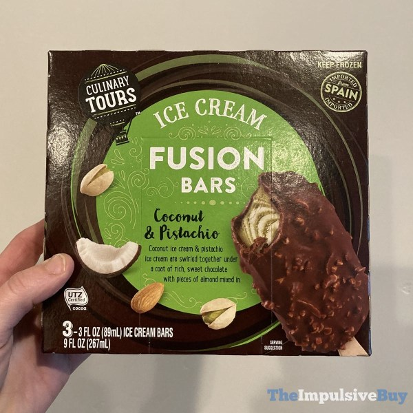Culinary Tours Coconut  Pistachio Ice Cream Fusion Bars