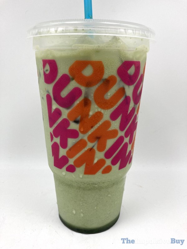 Dunkin Blueberry Iced Matcha Latte Cup
