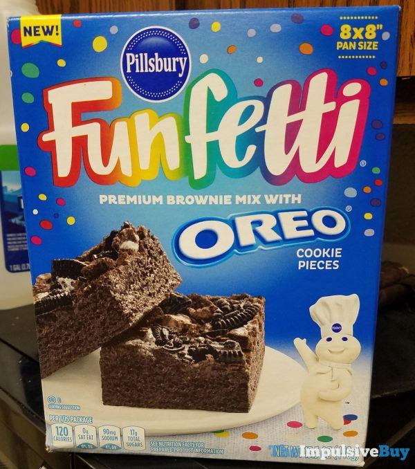 Pillsbury Funfetti Premium Brownie Mix with Oreo