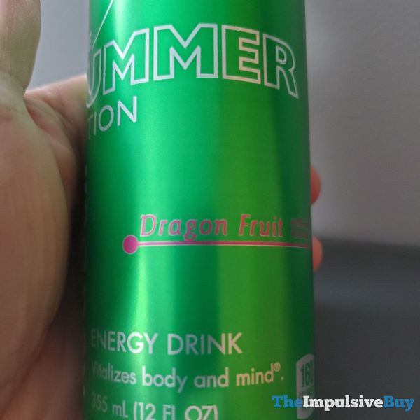 Red Bull Summer Edition Dragon Fruit Energy Drink Label