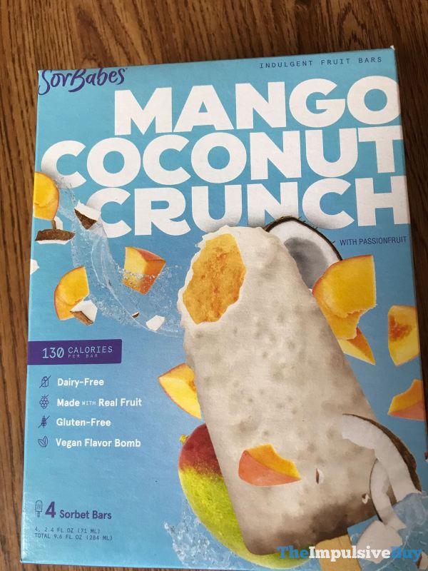 SorBabes Mango Coconut Crunch Sorbet Bars