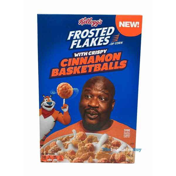 Kellogg s Frosted Flakes with Crispy Cinnamon Basketballs Box