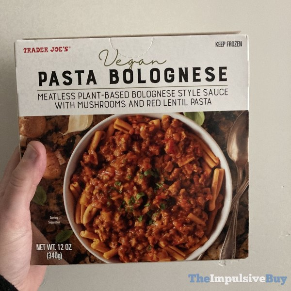 Trader Joe s Vegan Pasta Bolognese