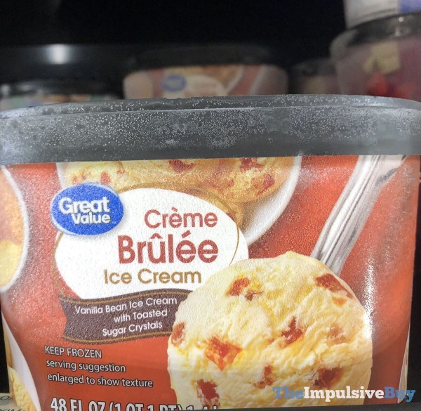 Great Value Creme Brulee Ice Cream