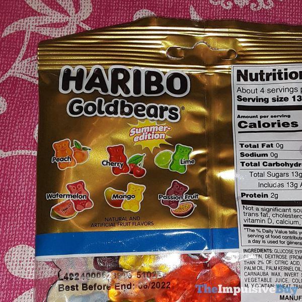 Limited Edition Haribo Goldbears Summer Edition 2021 Flavors