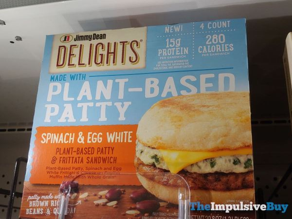 Jimmy Dean Delights Plant Based Patty Spinach  Egg White Sandwich